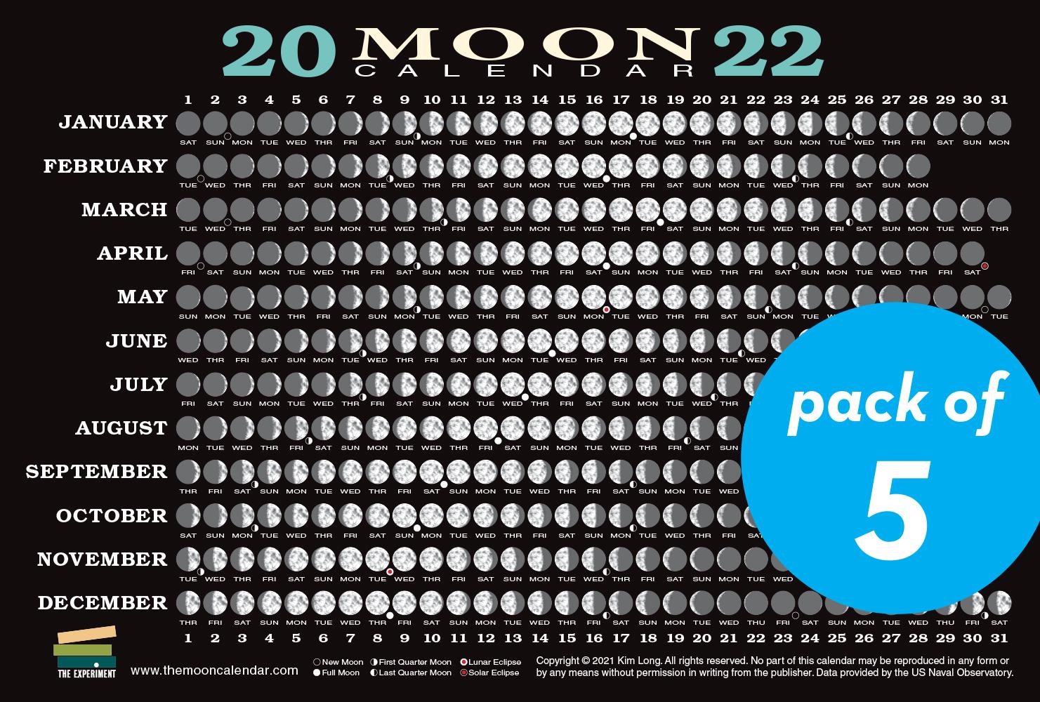 Lunar Fishing Calendar 2022.Science Nature The Experiment